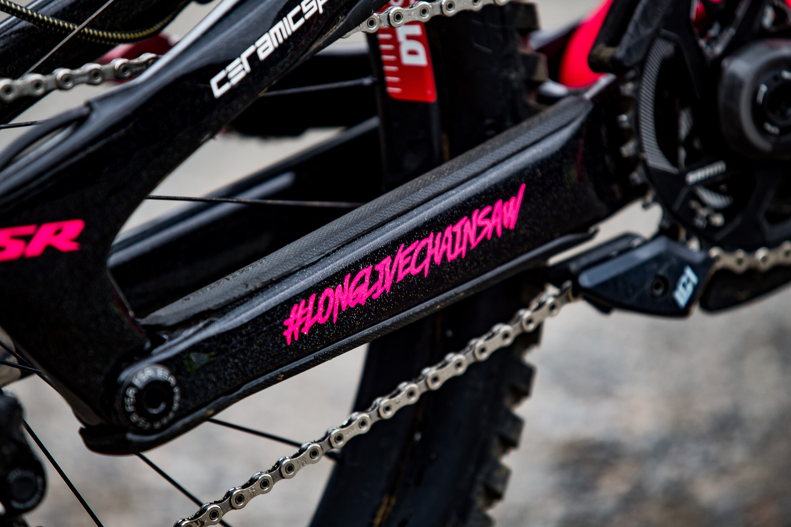 #longlivechainsaw - WINNING BIKE: Finn Iles' Specialized S-Works Demo - Mountain Biking Pictures - Vital MTB
