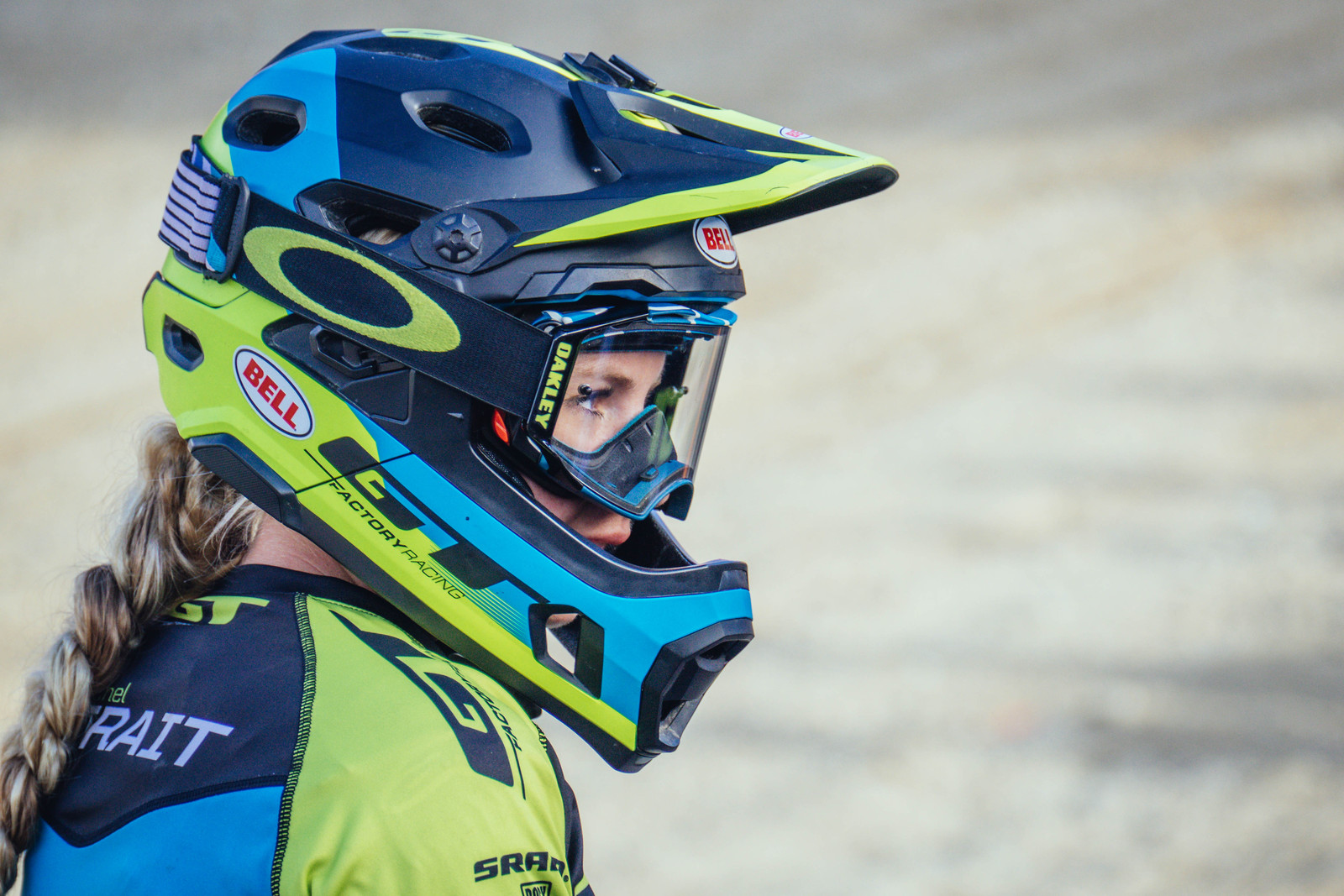 Rachel Strait's Bell Super DH Helmet - PIT BITS - Crankworx Whistler - Mountain Biking Pictures - Vital MTB