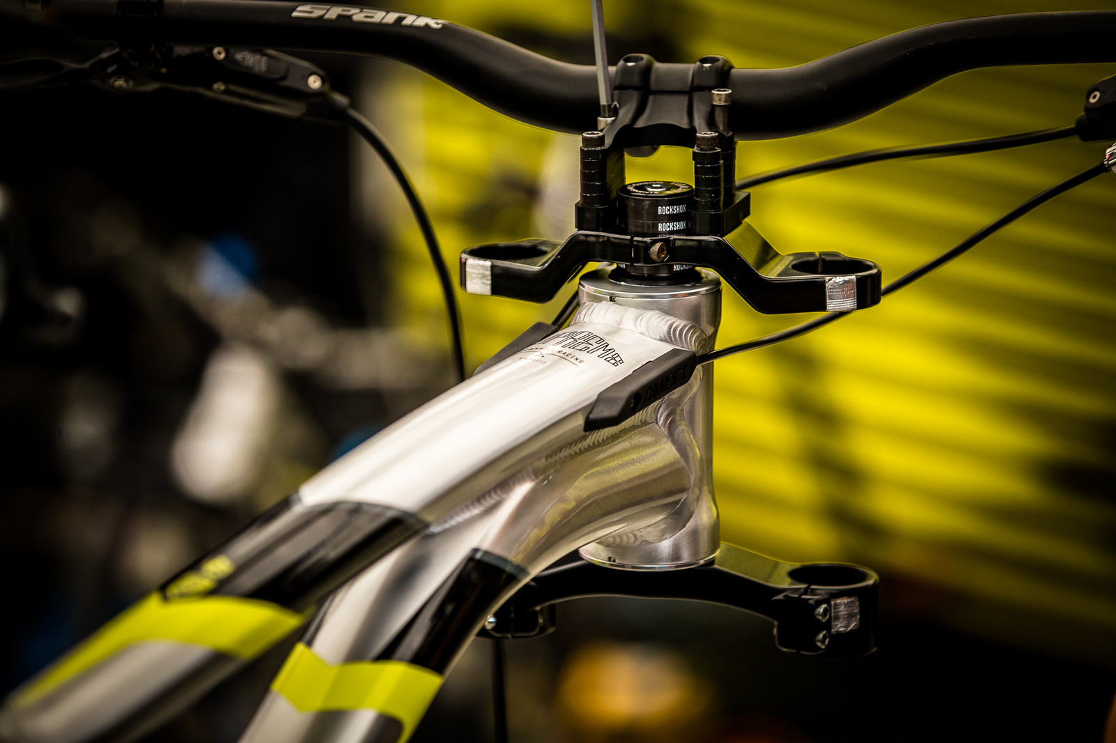 Commencal with Anti-Vibration Stickers - PIT BITS - Val di Sole World Cup Downhill - Mountain Biking Pictures - Vital MTB