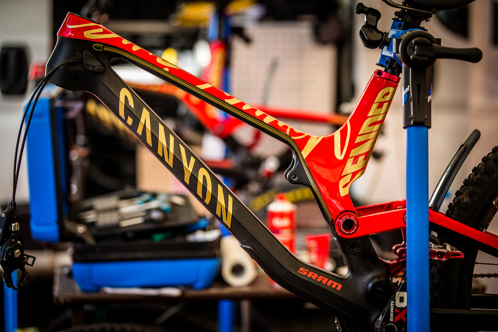 World Champs Bikes in the House! - PIT BITS - Val di Sole World Cup Downhill - Mountain Biking Pictures - Vital MTB