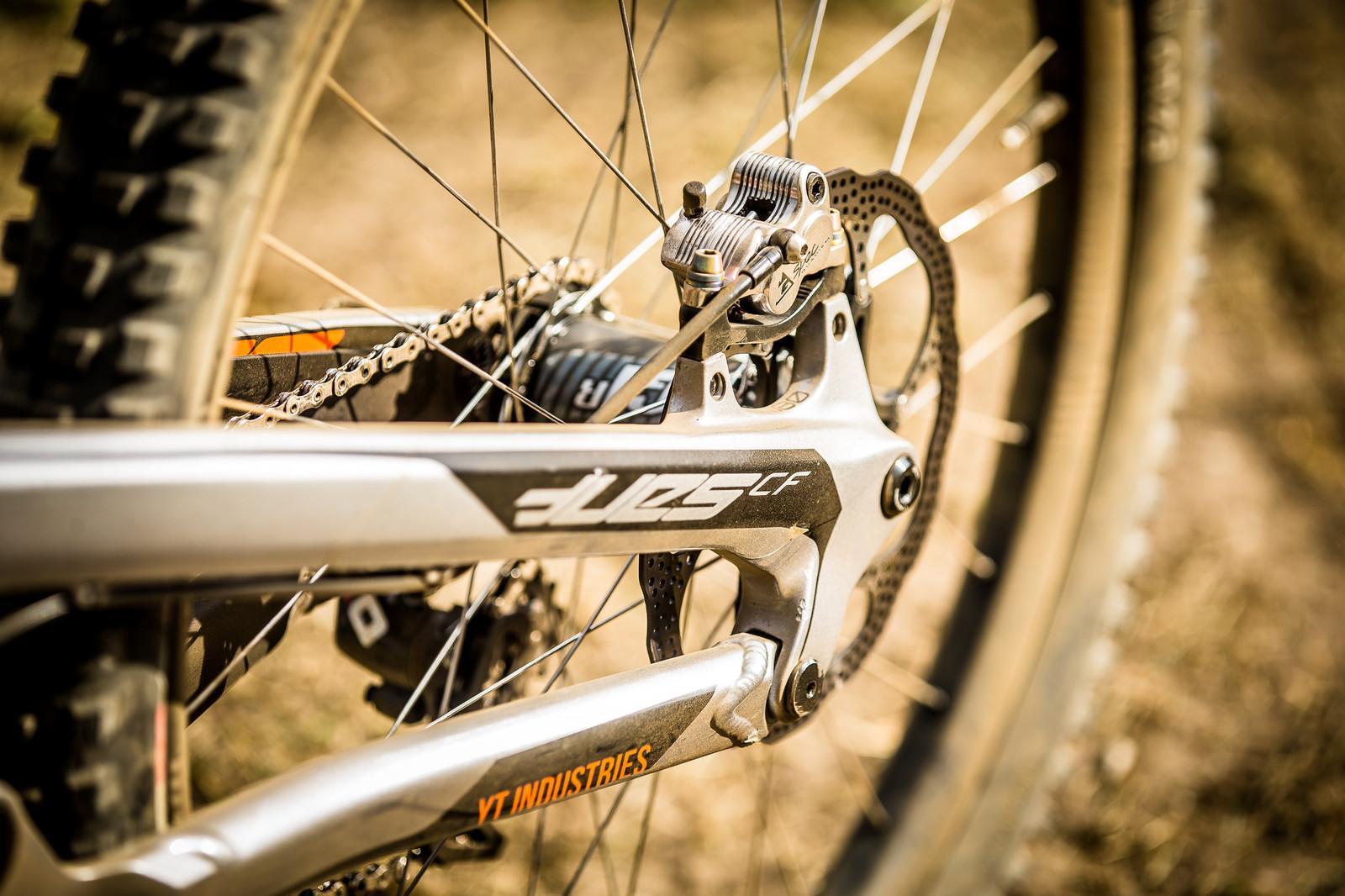 TRP Quadiem G-Spec Brakes - WINNING BIKE: Aaron Gwin's YT TUES - Mountain Biking Pictures - Vital MTB