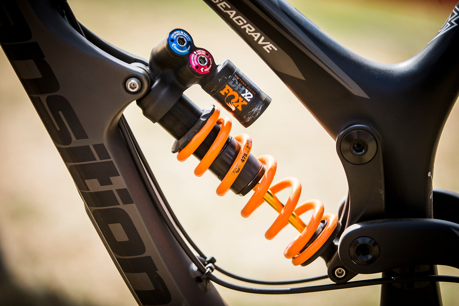FOX DHX2 Coil Shock with 475-pound Spring - WINNING BIKE: Tahnee Seagrave's Transition TR11 - Mountain Biking Pictures - Vital MTB