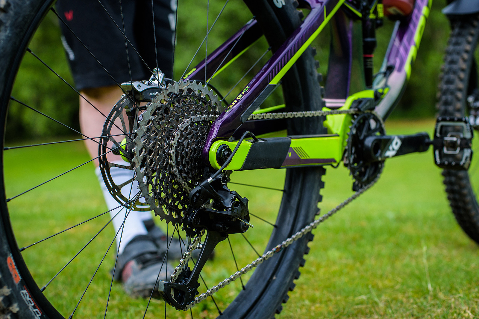 SRAM Eagle 12-speed Drivetrain - Pro Bike Check: Keegan Wright's Devinci Spartan Carbon - Mountain Biking Pictures - Vital MTB