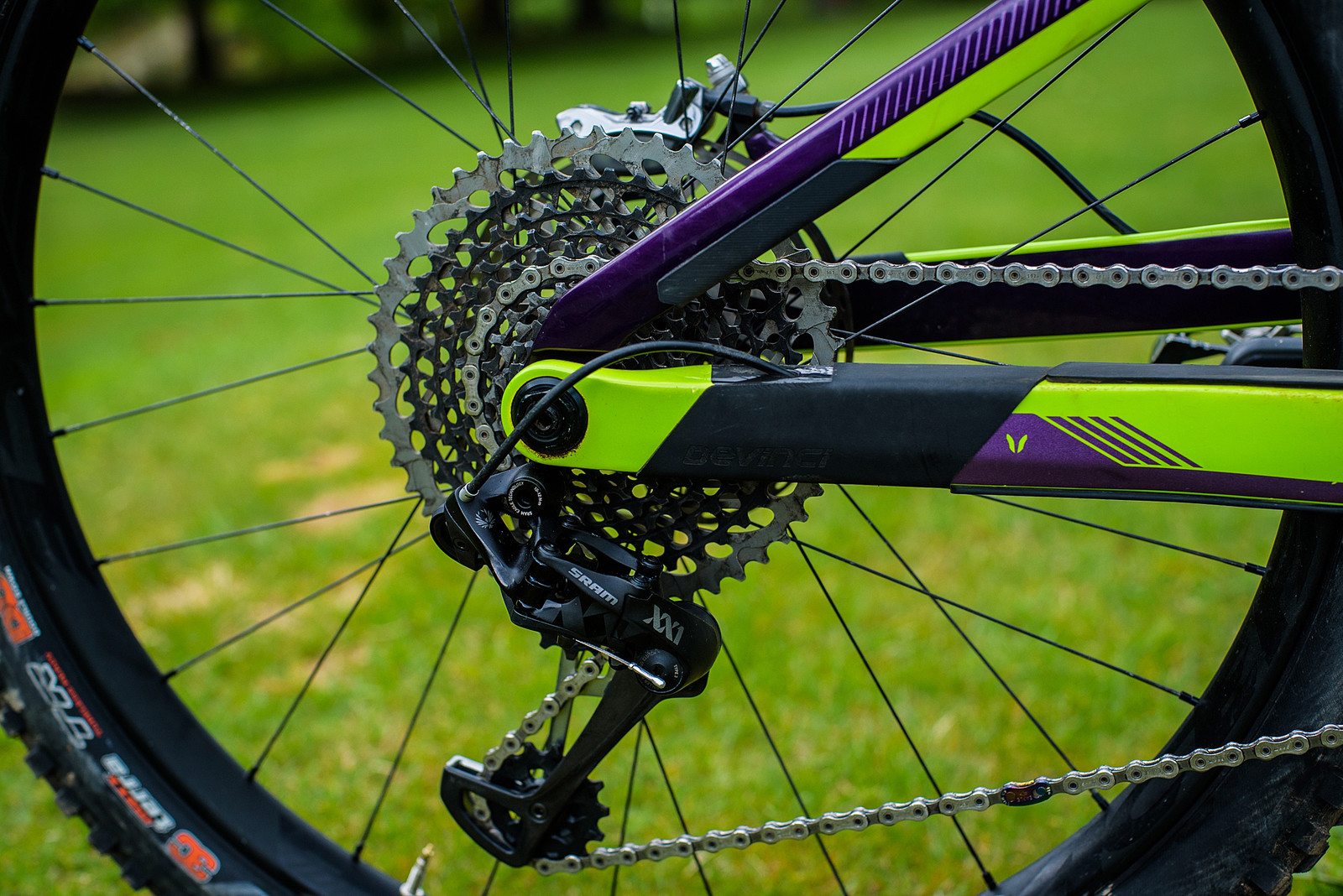 10-50t SRAM Eagle Cassette with XX1 Rear Derailleur - Pro Bike Check: Keegan Wright's Devinci Spartan Carbon - Mountain Biking Pictures - Vital MTB