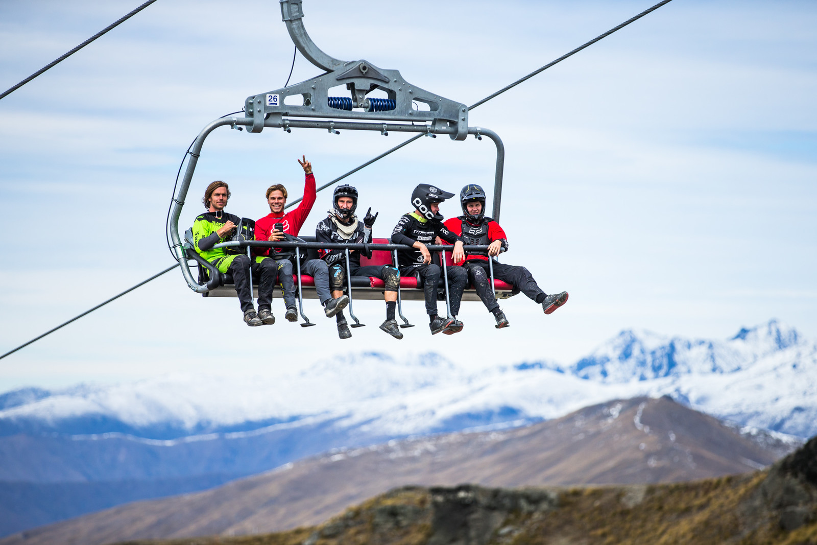 Six-Person Chairlift - Blenki, Brook & More - 2018 NZ National Champs Day 1 - Mountain Biking Pictures - Vital MTB