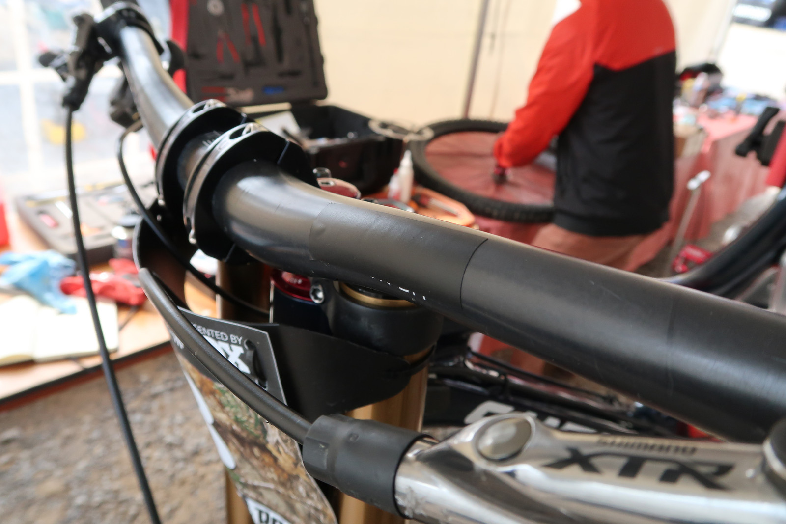 Maybe They Just Had A Bunch of Spare Electrical Tape? - PIT BITS - Windrock Pro GRT - Mountain Biking Pictures - Vital MTB