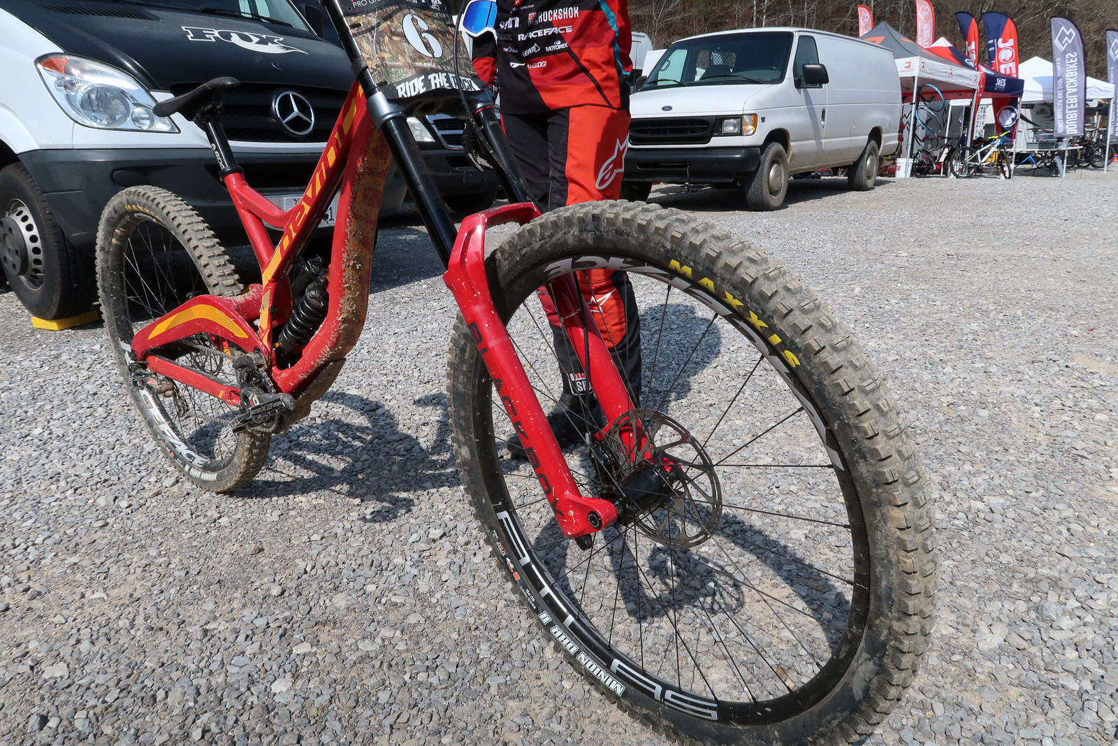 Maxxis Minion DHR II Tires Front and Rear - Dakotah Norton's Devinci UDFR Wilson 29 - Mountain Biking Pictures - Vital MTB