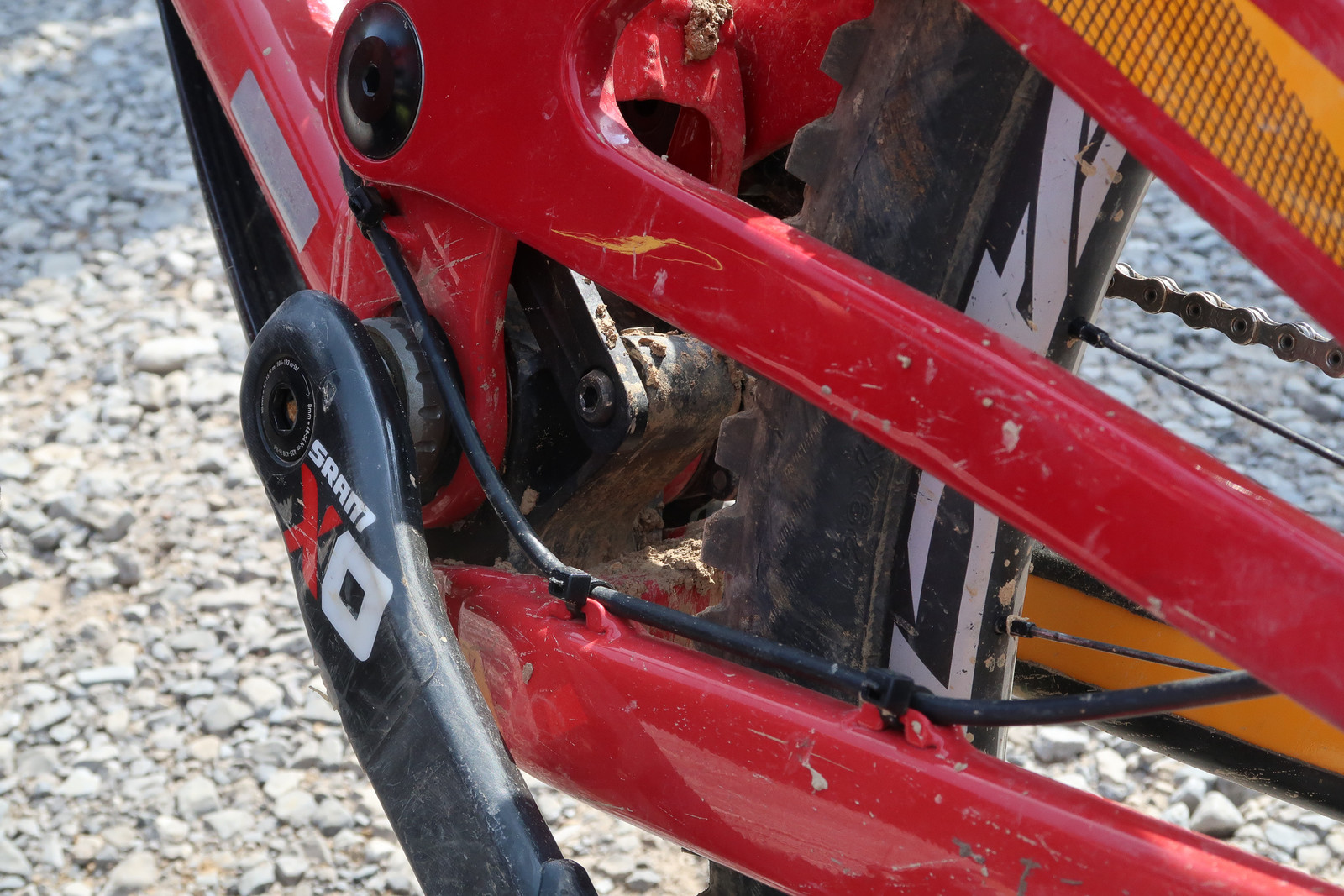 Linkage Detail - Dakotah Norton's Devinci UDFR Wilson 29 - Mountain Biking Pictures - Vital MTB