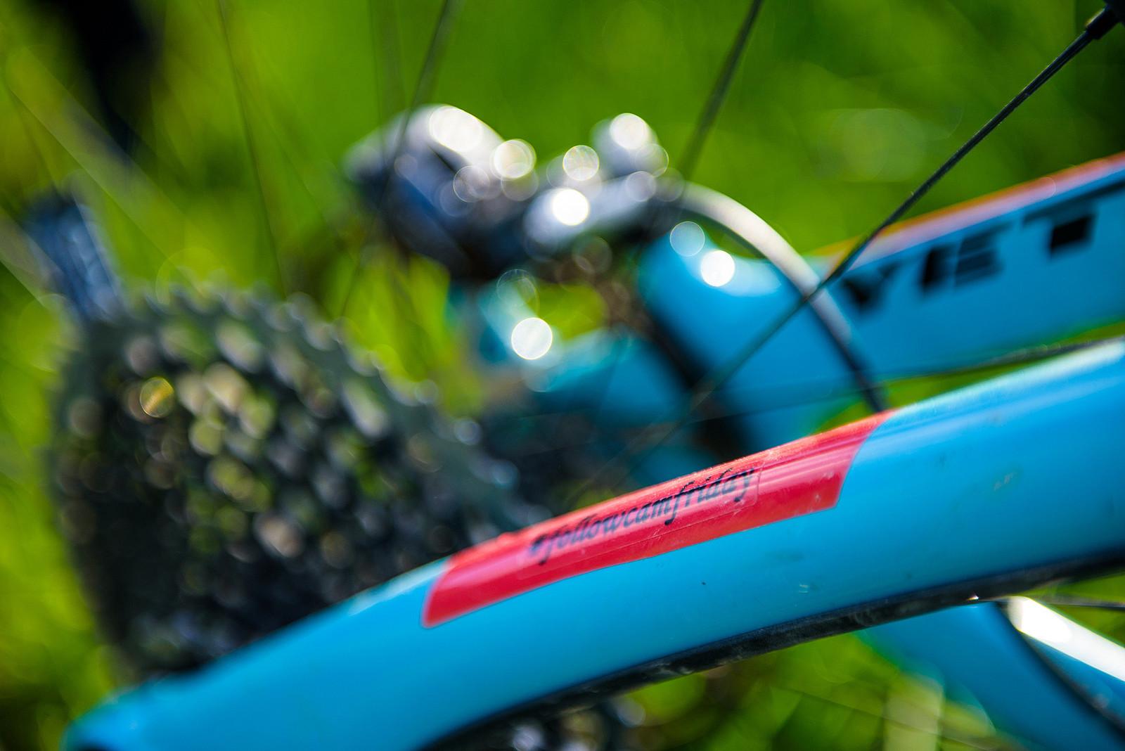 Custom Red Swatches to Match the New Lyrik - Nate Hills' Yeti SB5 with 2019 RockShox Lyrik - Mountain Biking Pictures - Vital MTB