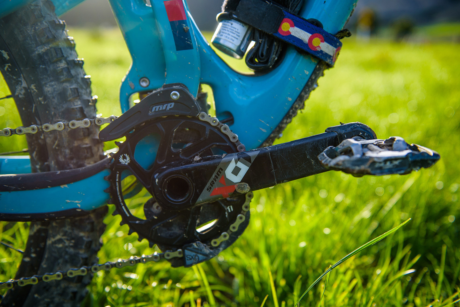 MRP SXG Chainguide for Extra Security - Nate Hills' Yeti SB5 with 2019 RockShox Lyrik - Mountain Biking Pictures - Vital MTB