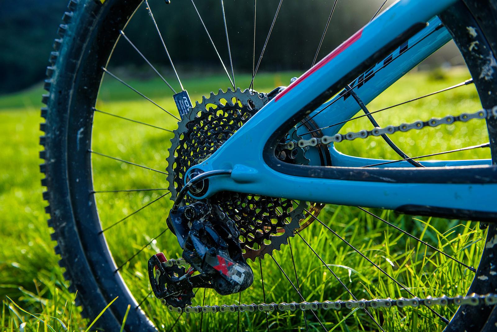 SRAM Eagle X01 Drivetrain - Nate Hills' Yeti SB5 with 2019 RockShox Lyrik - Mountain Biking Pictures - Vital MTB