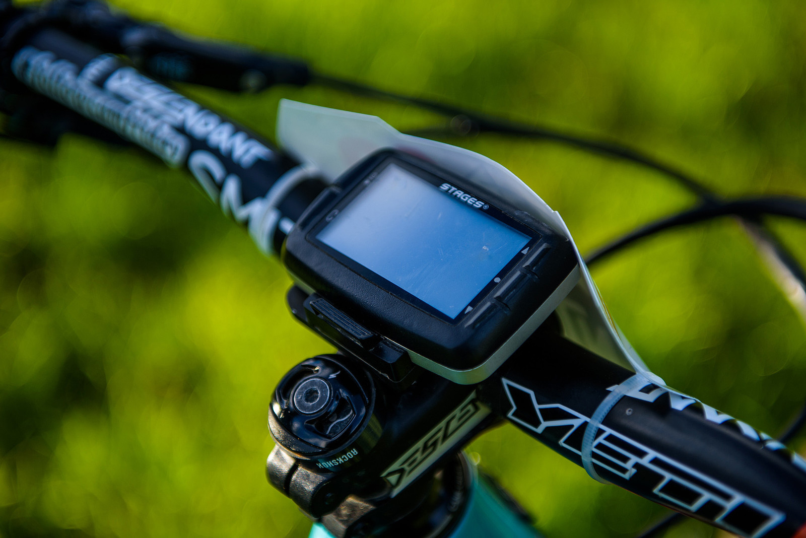 Stages Computer for All the Data - Nate Hills' Yeti SB5 with 2019 RockShox Lyrik - Mountain Biking Pictures - Vital MTB