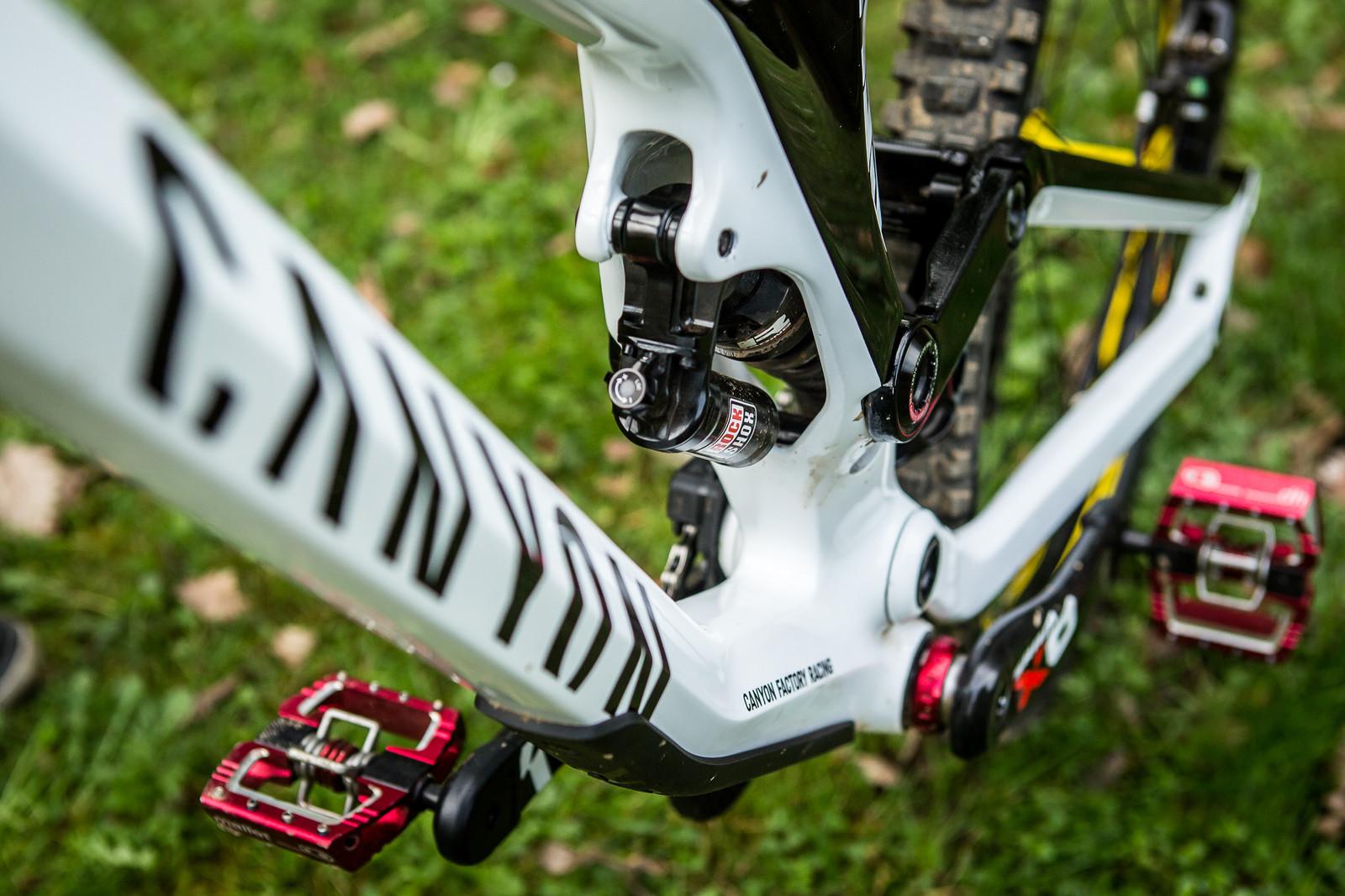 RockShox SuperDeluxe Coil - Pro Bike Check: Troy Brosnan's Canyon Sender - Mountain Biking Pictures - Vital MTB