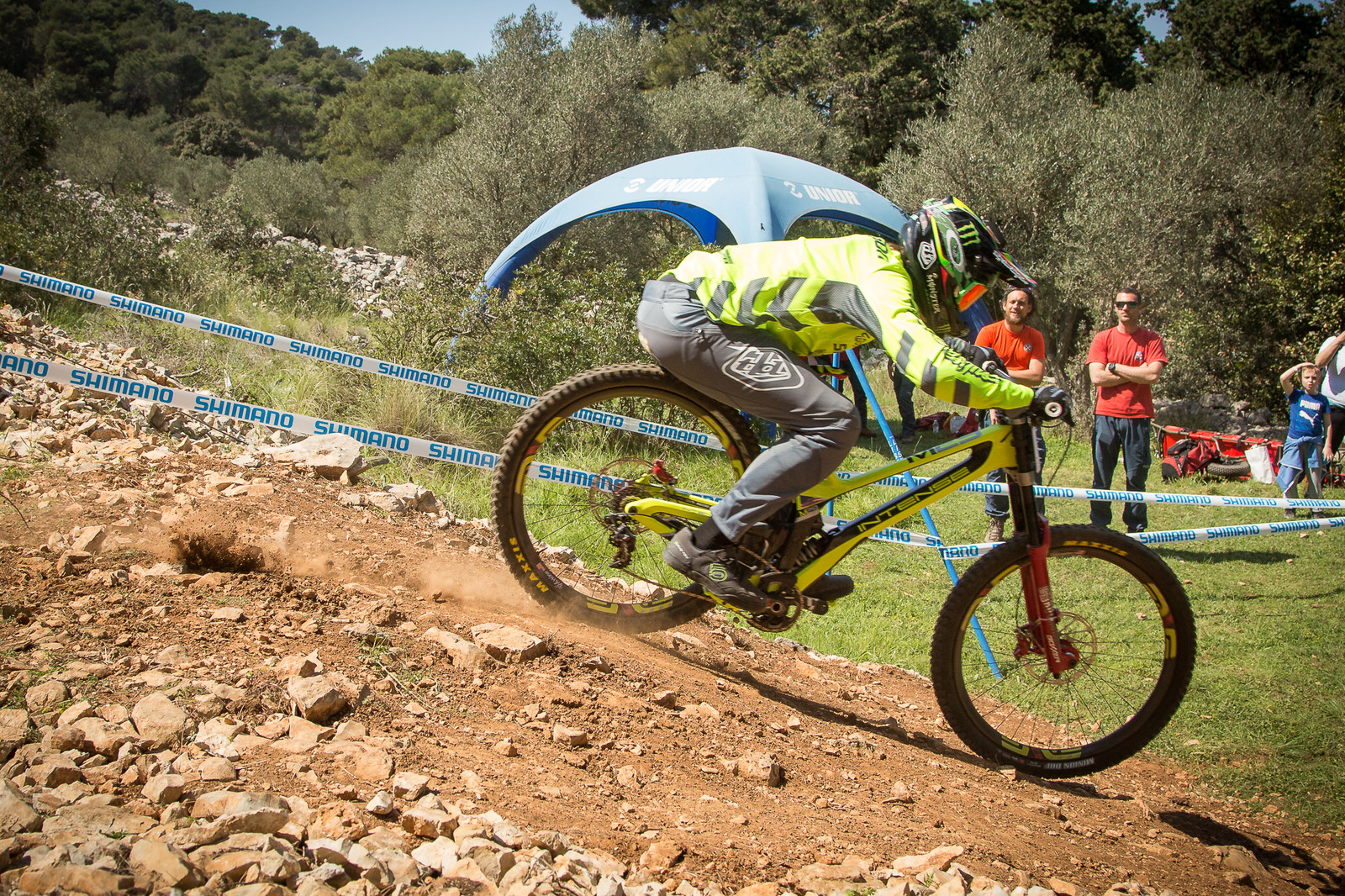 Charlie Harrison Credit Card Swiping - G-Out Project - Croatia World Cup DH - Mountain Biking Pictures - Vital MTB