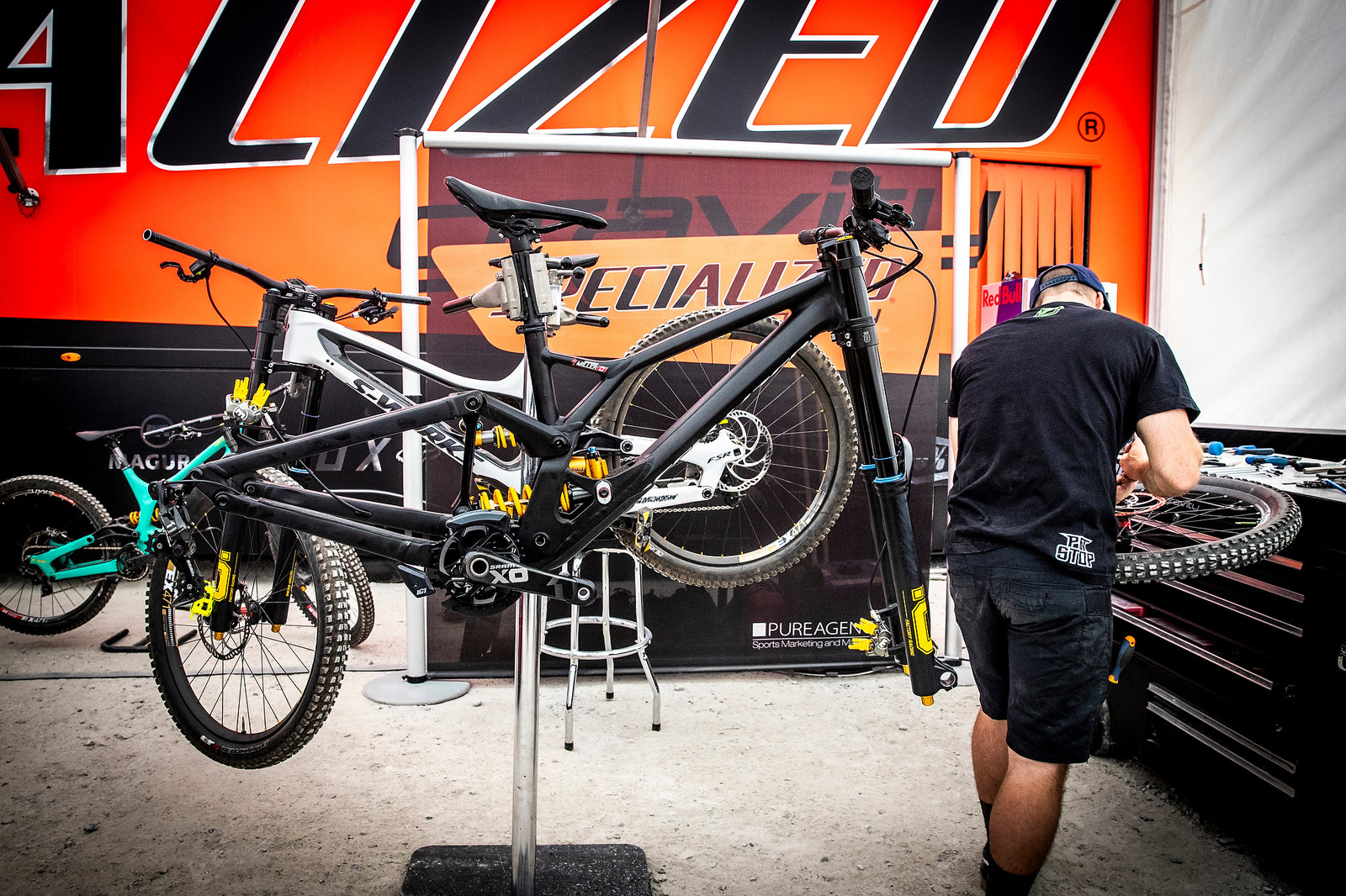 PROTOTYPE SPECIALIZED DEMO 29 FRAME - Prototype Specialized Demo 29 at Fort William - Mountain Biking Pictures - Vital MTB