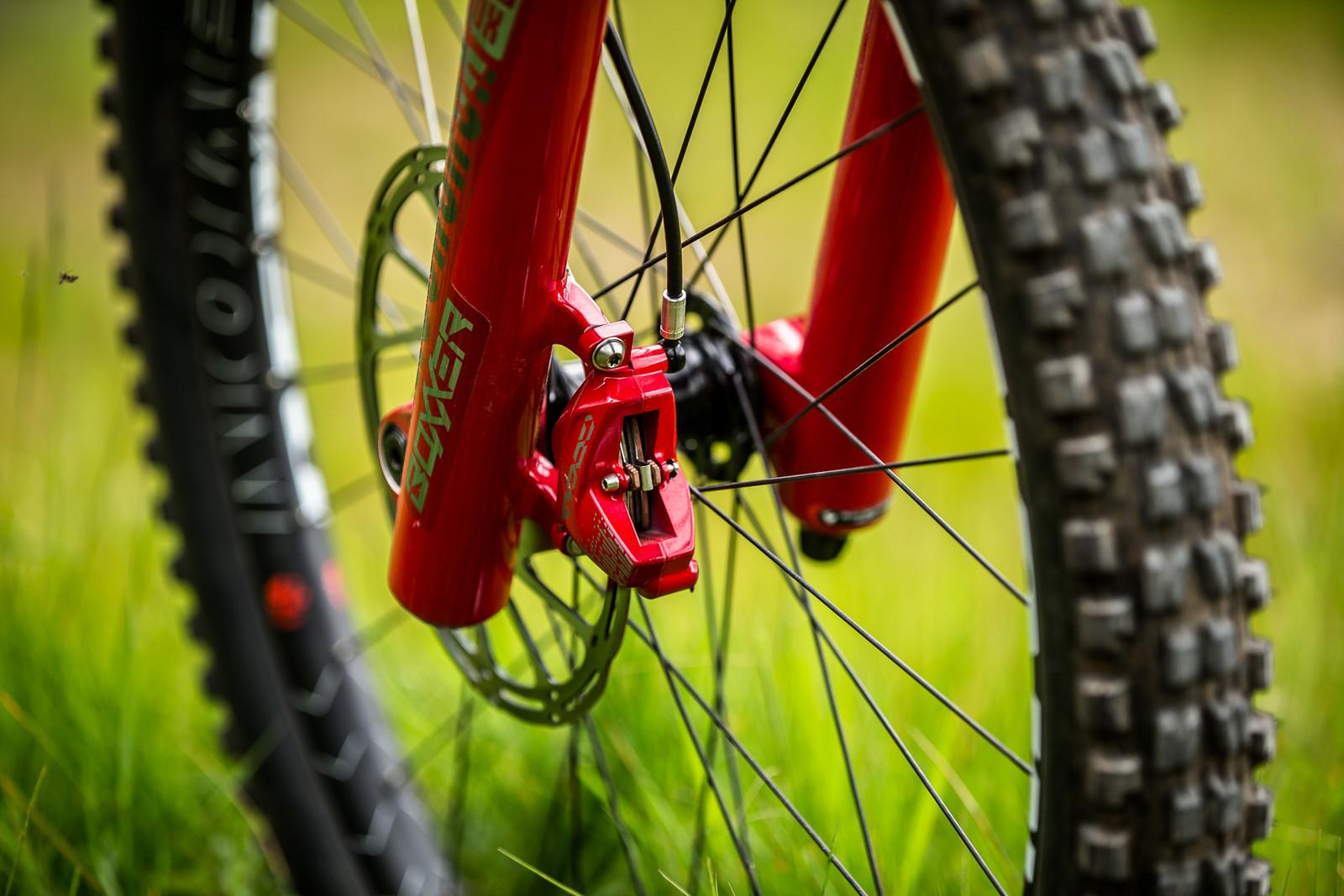 The Red CODE Brakes for BlackBox Riders - Connor Fearon's Kona Supreme Operator for Fort William - Mountain Biking Pictures - Vital MTB