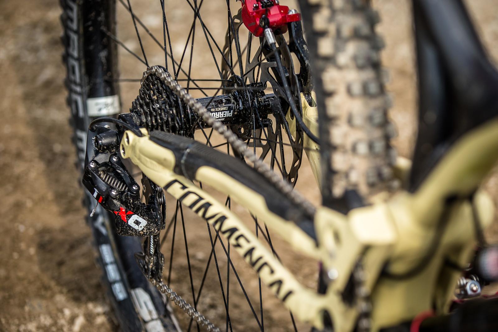 SRAM X0 DH Drivetrain - WINNING BIKE - Amaury Pierron's Commencal Supreme DH 29 - Mountain Biking Pictures - Vital MTB