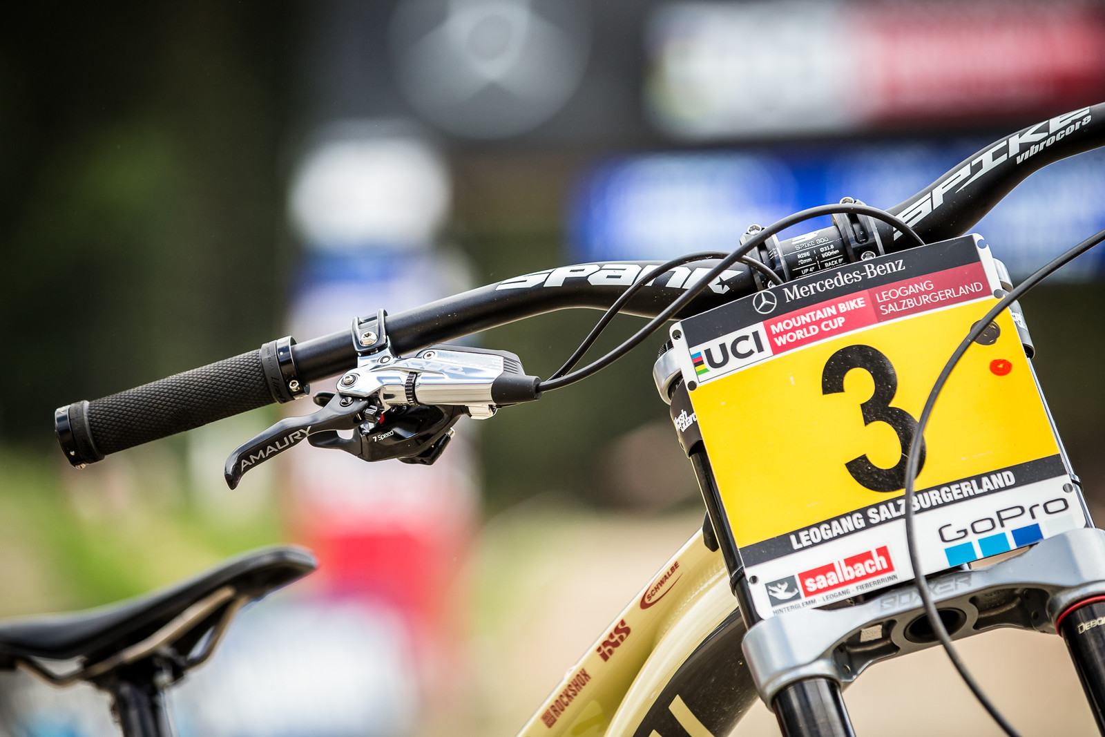 Amaury Will Now Have the #1 Plate - WINNING BIKE - Amaury Pierron's Commencal Supreme DH 29 - Mountain Biking Pictures - Vital MTB