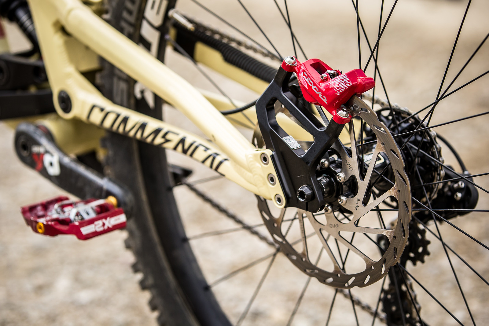 SRAM CODE Brakes - WINNING BIKE - Amaury Pierron's Commencal Supreme DH 29 - Mountain Biking Pictures - Vital MTB