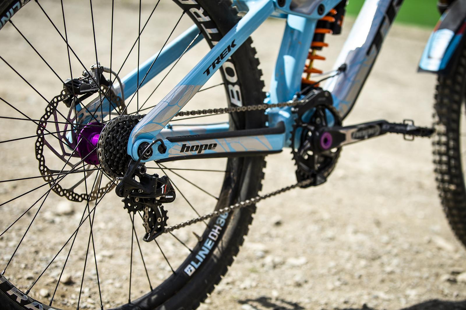 SRAM X0 DH Derailleur and Cassette - WINNING BIKE - Rachel Atherton's Trek Session - Mountain Biking Pictures - Vital MTB
