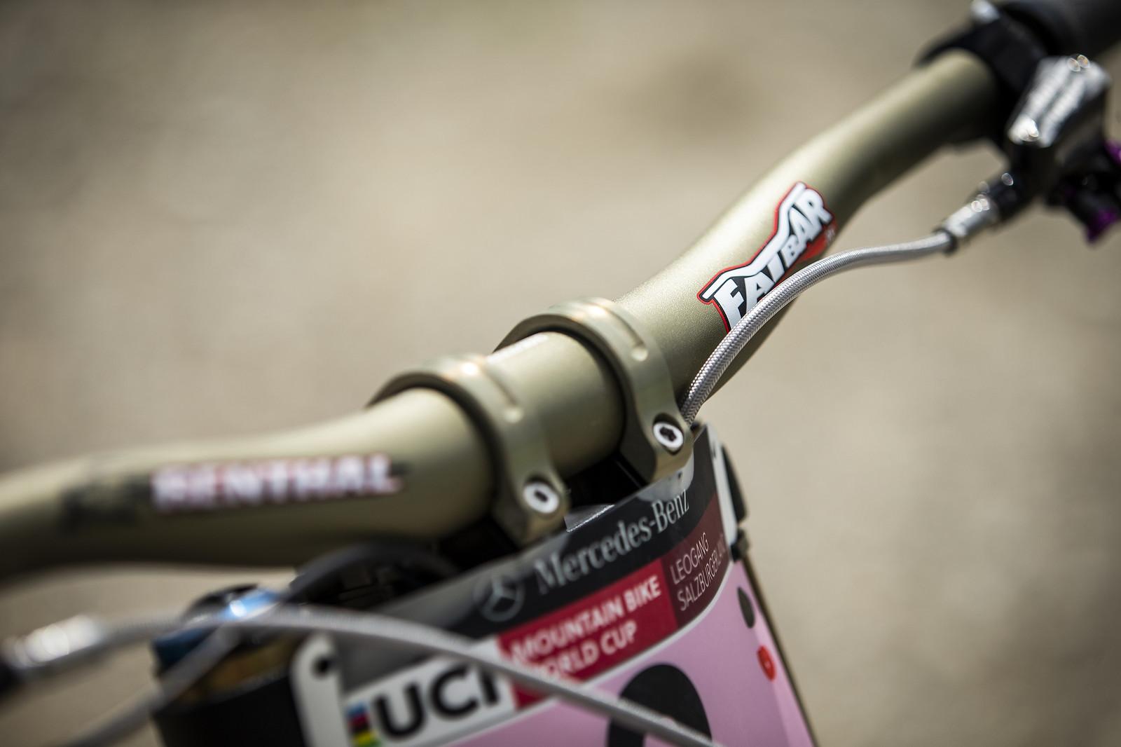 Renthal Bars and Stem - WINNING BIKE - Rachel Atherton's Trek Session - Mountain Biking Pictures - Vital MTB