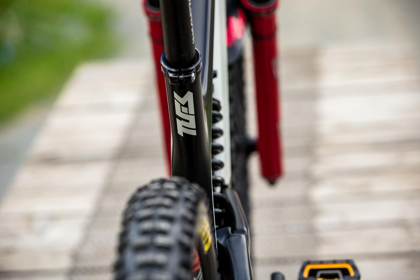 YT TUES Seat Tube - WINNING BIKE - Vali Höll's YT TUES - Mountain Biking Pictures - Vital MTB