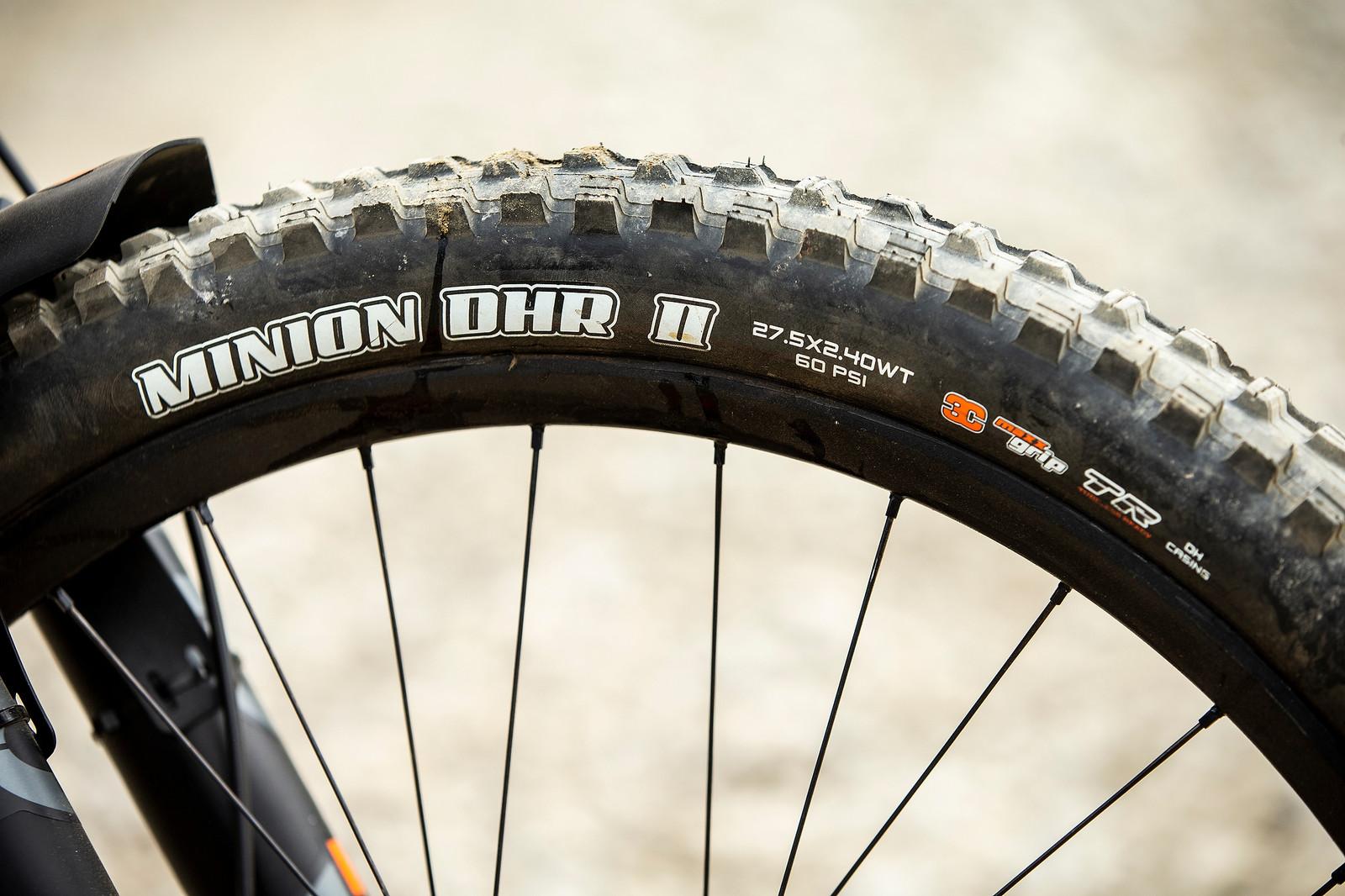 Maxxis Minion DHR II Tires, 27.5 x 2.4 - WINNING BIKE - Danny Hart's Saracen Myst - Mountain Biking Pictures - Vital MTB