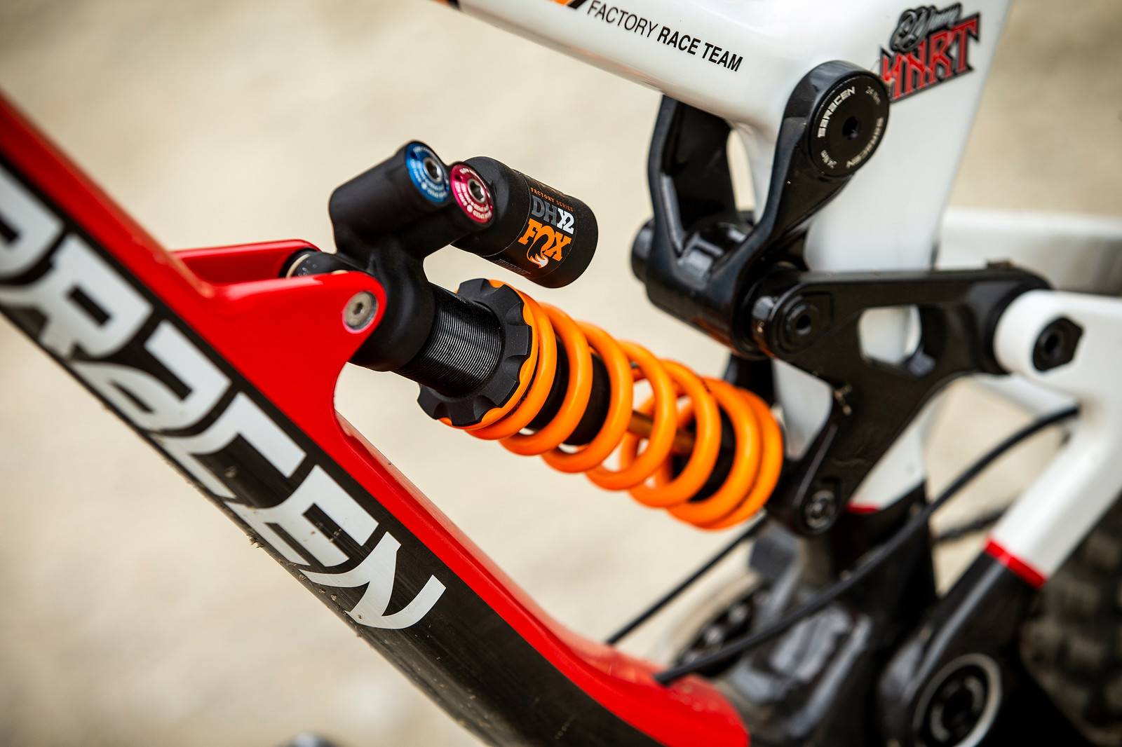FOX DHX2 Coil Shock - WINNING BIKE - Danny Hart's Saracen Myst - Mountain Biking Pictures - Vital MTB