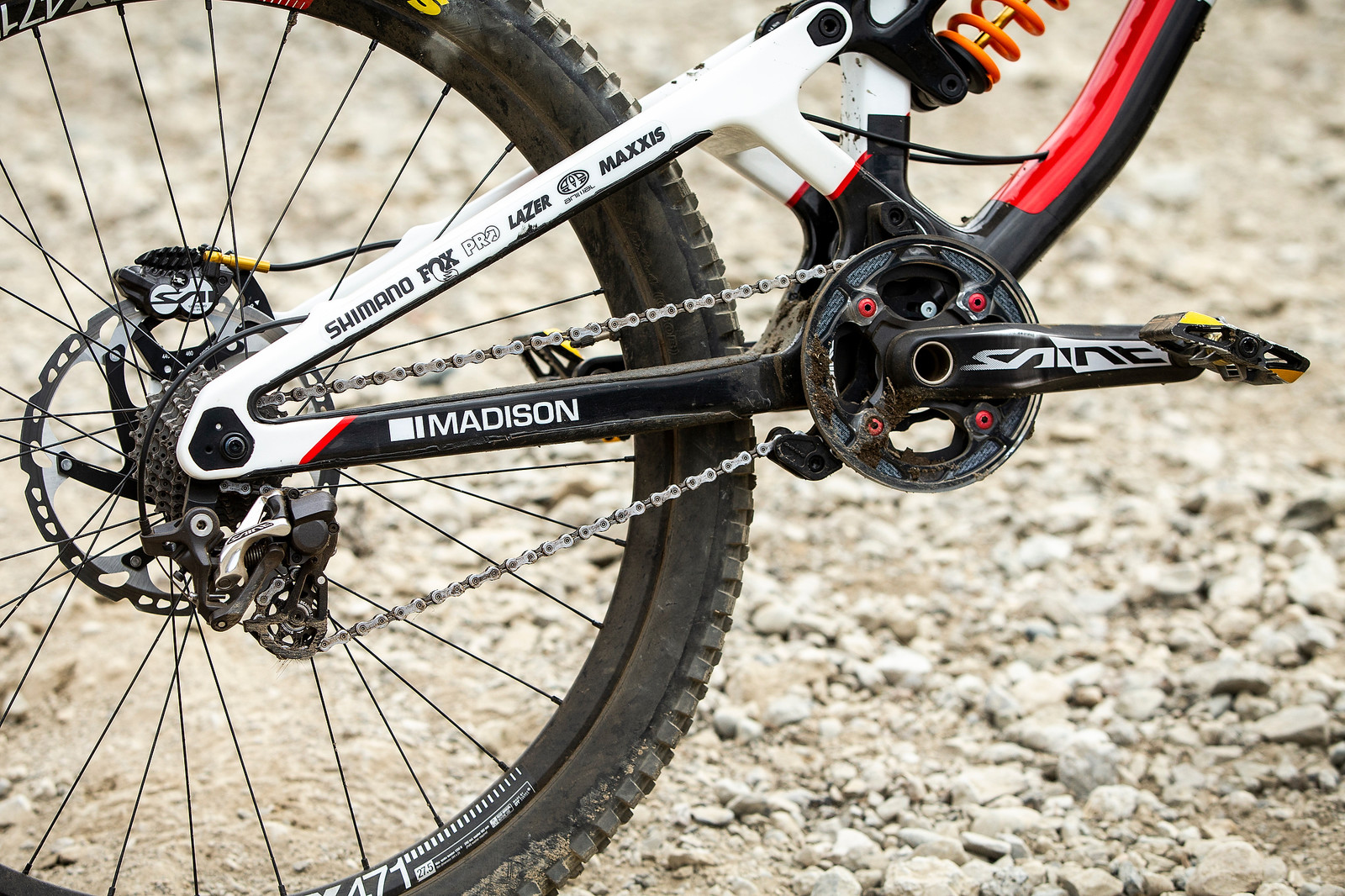 Shimano Saint Drivetrain - WINNING BIKE - Danny Hart's Saracen Myst - Mountain Biking Pictures - Vital MTB