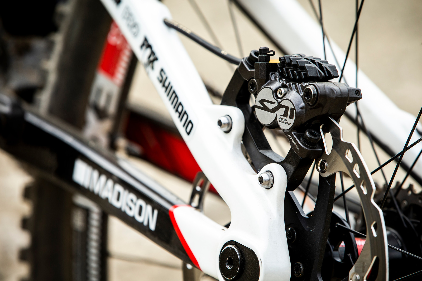 Shimano Saint Brakes - WINNING BIKE - Danny Hart's Saracen Myst - Mountain Biking Pictures - Vital MTB