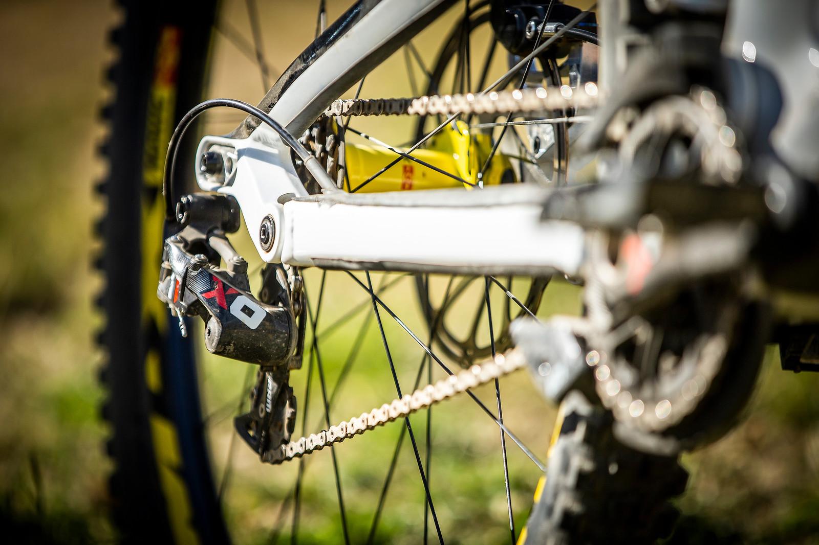 SRAM X01 DH 7-Speed Drivetrain - WINNING BIKE - Troy Brosnan's Canyon Sender - Mountain Biking Pictures - Vital MTB