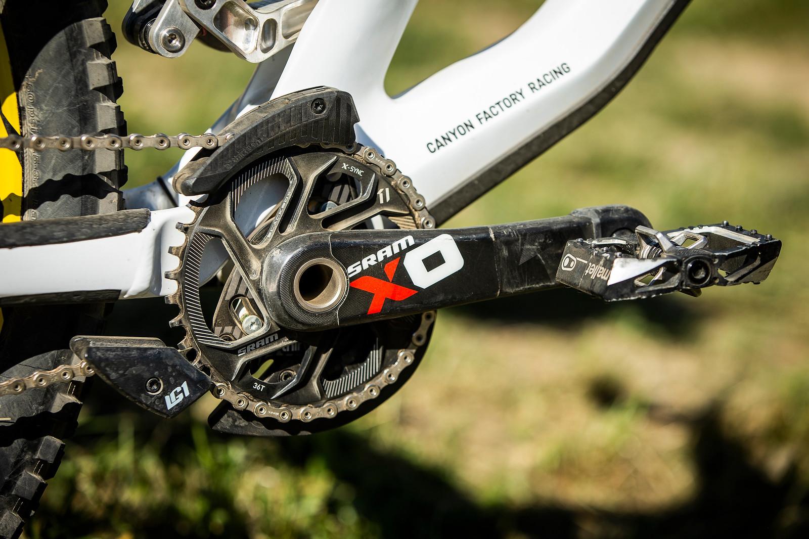 e*thirteen LG1 and SRAM 36t chainring with X0 Carbon Cranks - WINNING BIKE - Troy Brosnan's Canyon Sender - Mountain Biking Pictures - Vital MTB