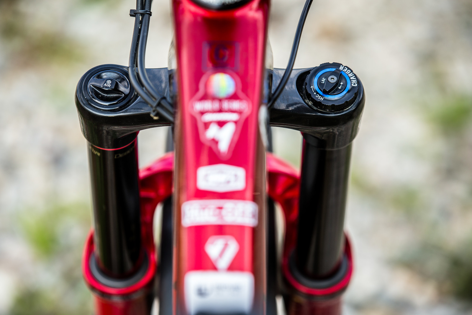 RockShox Lyrik with Charger Damper - WINNING BIKE - Sam Hill's Nukeproof Mega 275 - Mountain Biking Pictures - Vital MTB