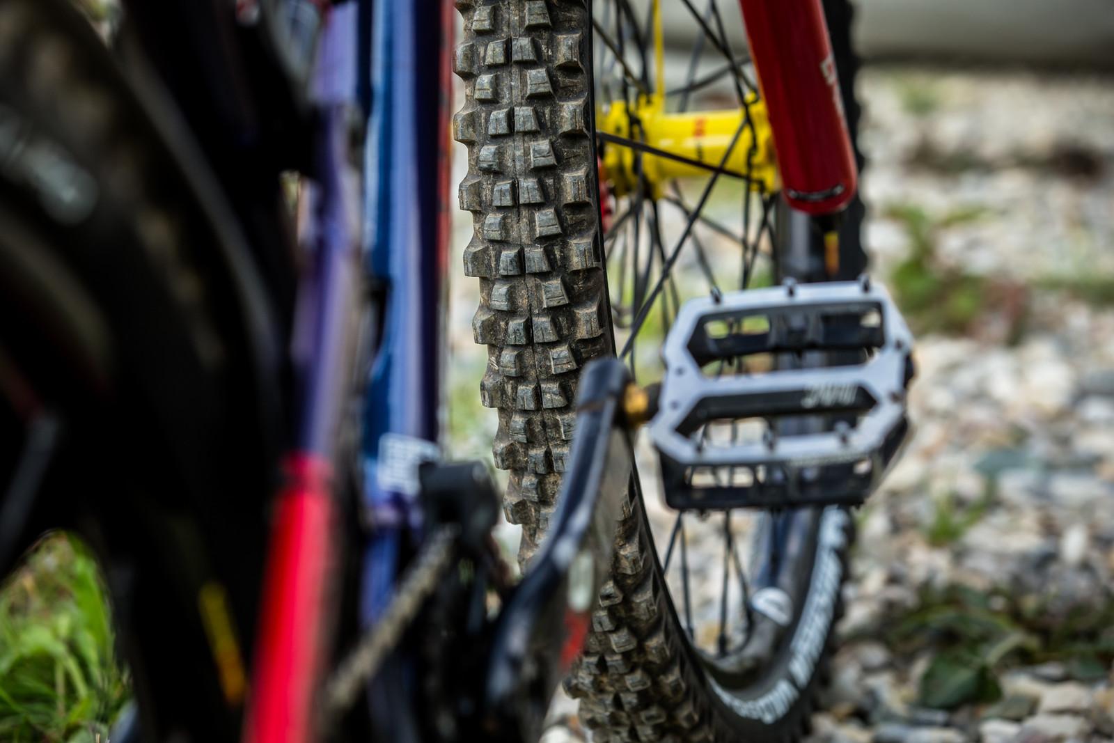 Michelin Wild Enduro Prototype Front Tire - WINNING BIKE - Sam Hill's Nukeproof Mega 275 - Mountain Biking Pictures - Vital MTB