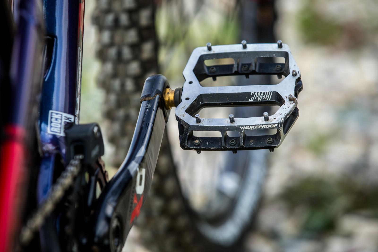 Always the Best Part of Sam's Build - WINNING BIKE - Sam Hill's Nukeproof Mega 275 - Mountain Biking Pictures - Vital MTB