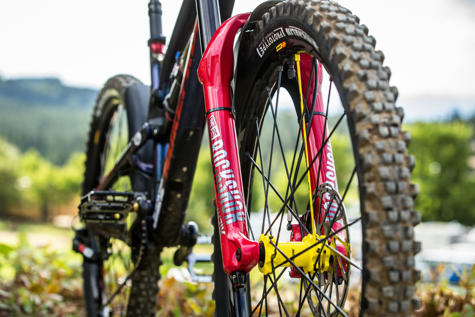 RockShox Lyrik - WINNING BIKE - Sam Hill's Nukeproof Mega 275 - Mountain Biking Pictures - Vital MTB