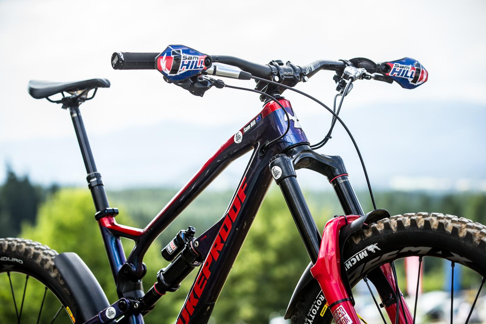 Appropriately Accesorized - WINNING BIKE - Sam Hill's Nukeproof Mega 275 - Mountain Biking Pictures - Vital MTB