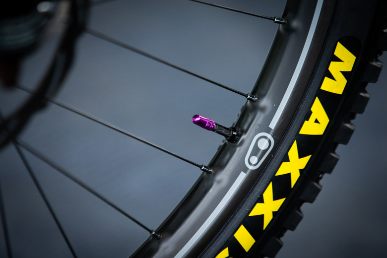 bc89ae1aeac Prototype Carbon Crank Brothers DH Wheels - PIT BITS - Val di Sole World  Cup Downhill - Mountain Biking ...