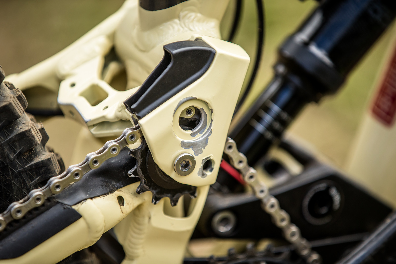 The Prototype Pulley Area - WINNING BIKE - Amaury Pierron's Commencal Supreme DH 29 - Mountain Biking Pictures - Vital MTB