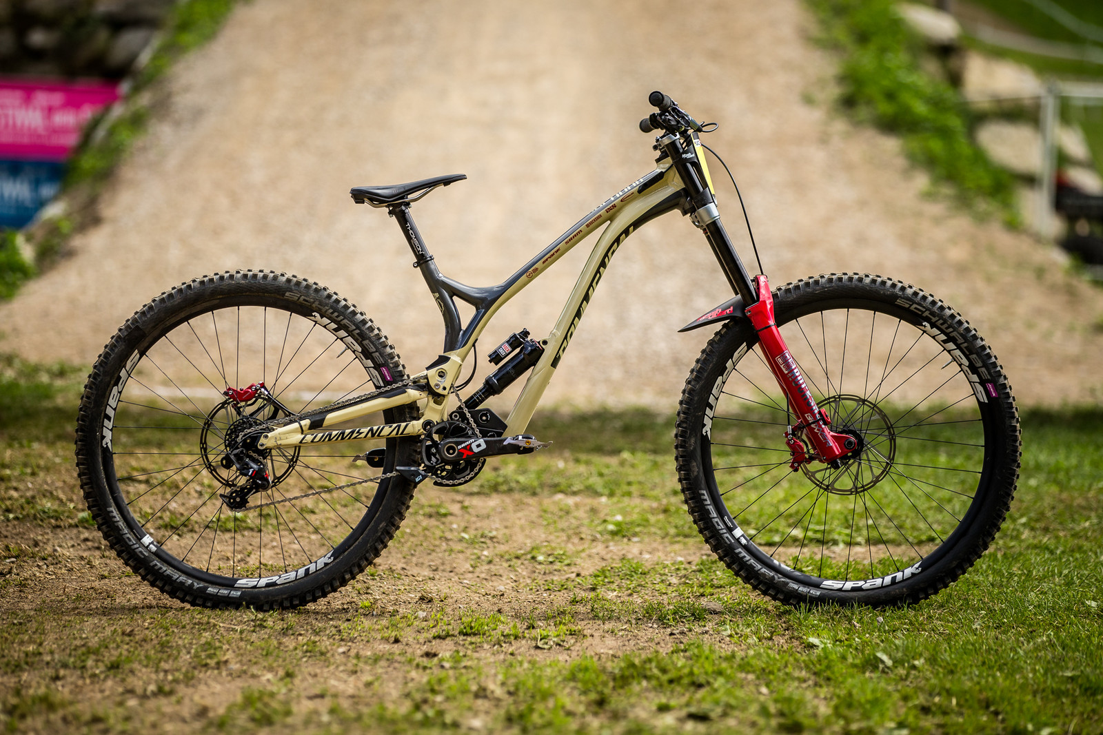 The Subtle Differences Between Amaury Pierron's Winning Commencal Supreme DH 29ers - WINNING BIKE - Amaury Pierron's Commencal Supreme DH 29 - Mountain Biking Pictures - Vital MTB