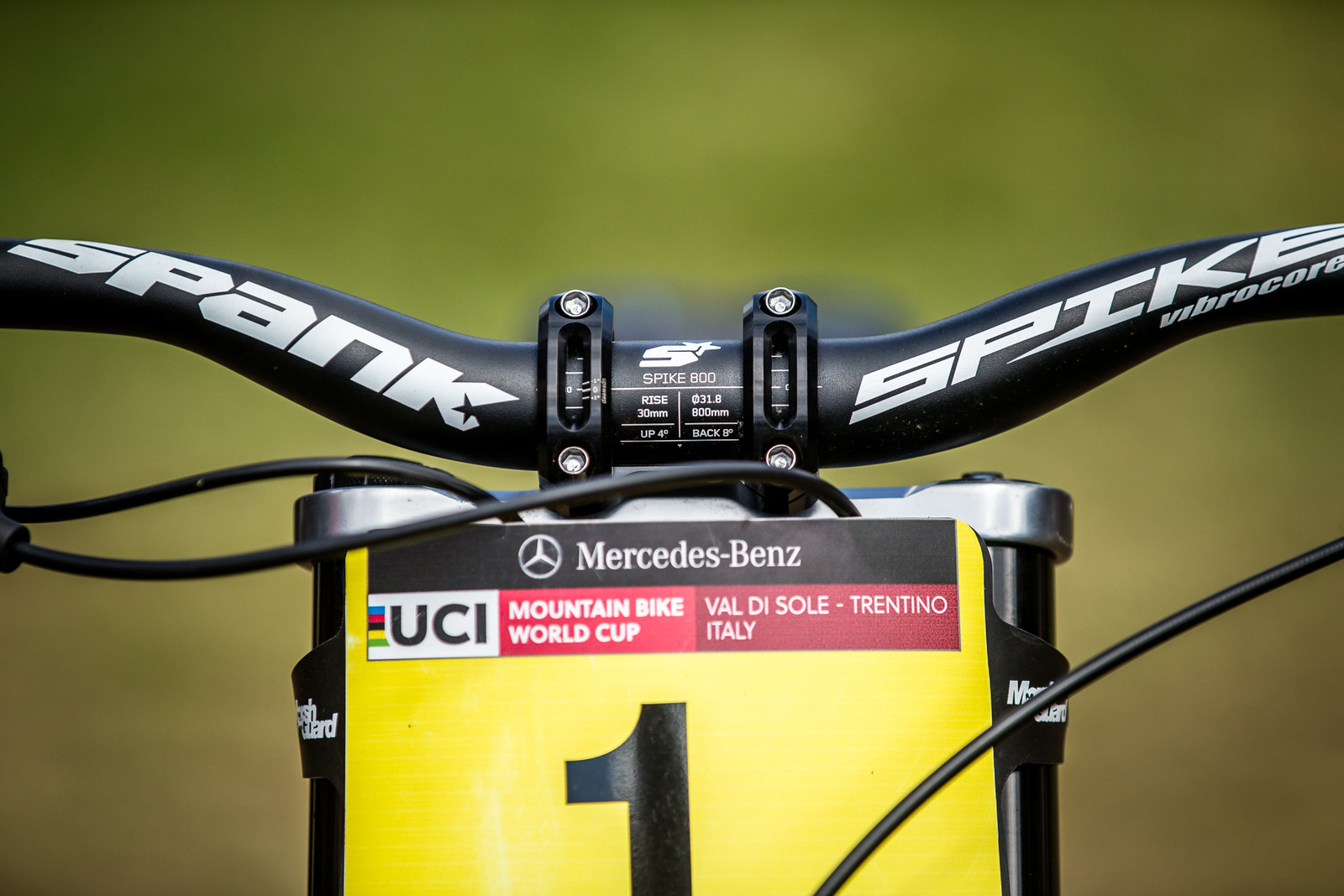 Spank Vibrocore Bars - WINNING BIKE - Amaury Pierron's Commencal Supreme DH 29 - Mountain Biking Pictures - Vital MTB