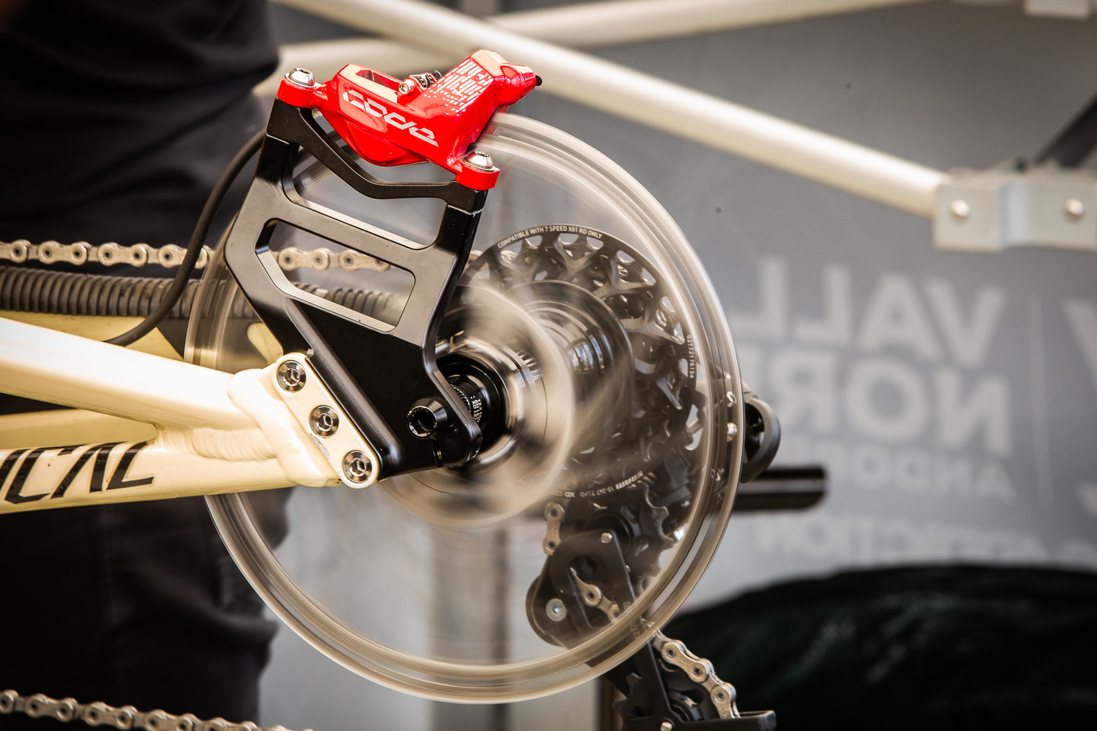 230mm Rotors - PIT BITS - Andorra World Cup Downhill - Mountain Biking Pictures - Vital MTB