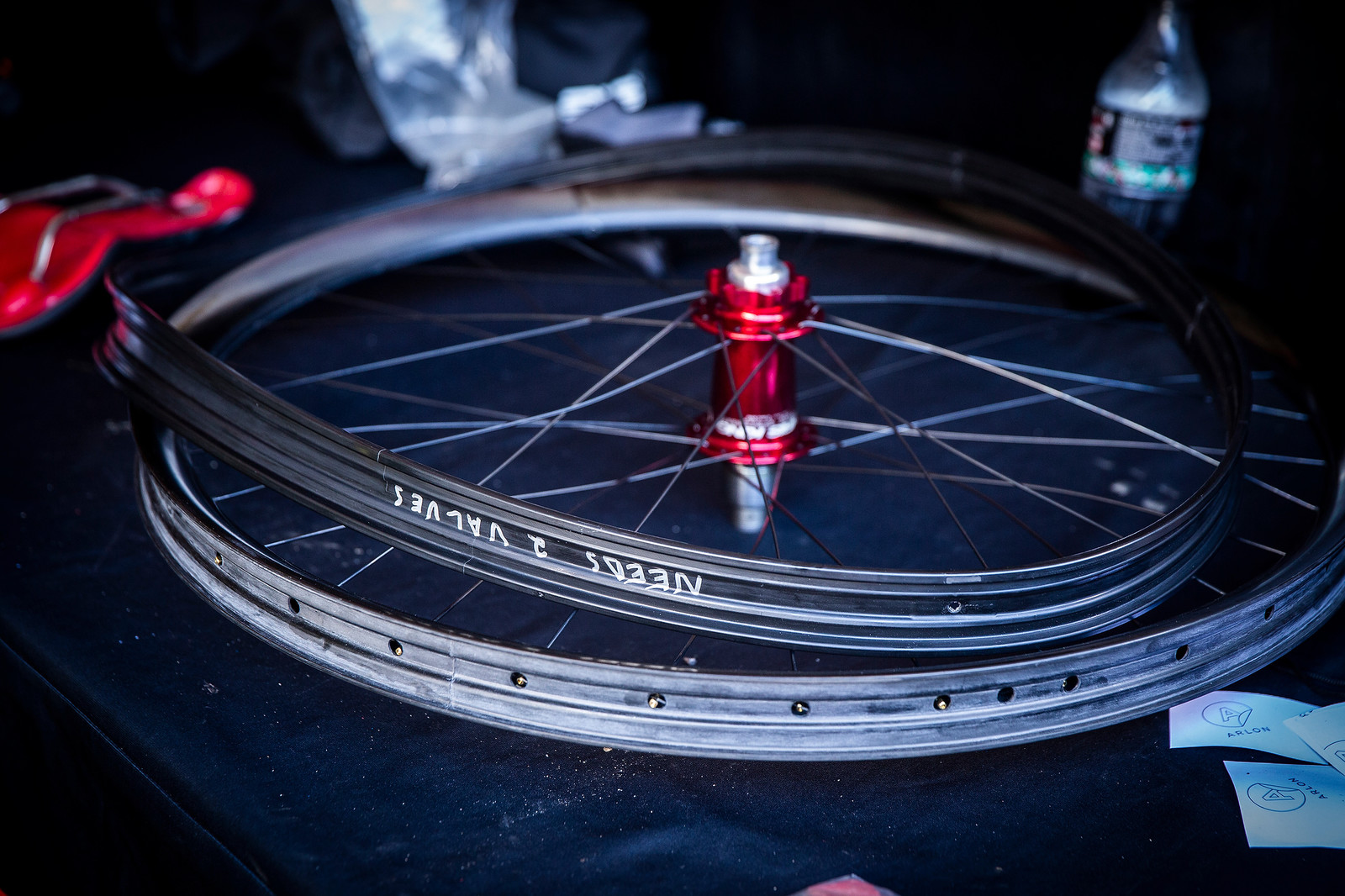 Intense's ENVE Wheels and Rims Strips - PIT BITS - Andorra World Cup Downhill - Mountain Biking Pictures - Vital MTB
