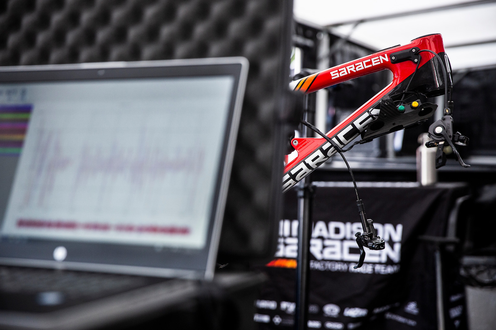 Logging Data for Danny Hart - PIT BITS - Andorra World Cup Downhill - Mountain Biking Pictures - Vital MTB