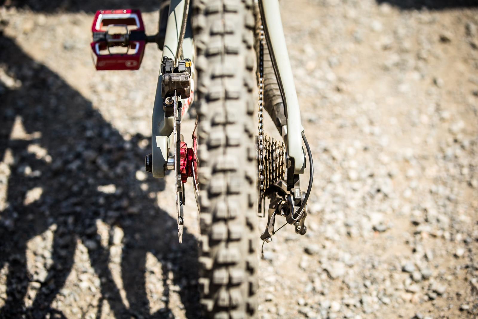 Rear Components - WINNING BIKE - Loris Vergier's Santa Cruz V10cc 29 - Mountain Biking Pictures - Vital MTB