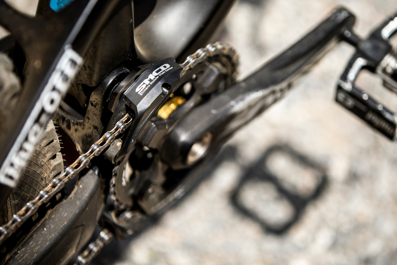 Shimano SMCD Chain Guide - WINNING BIKE - Tahnee Seagrave's Transition TR11 - Mountain Biking Pictures - Vital MTB
