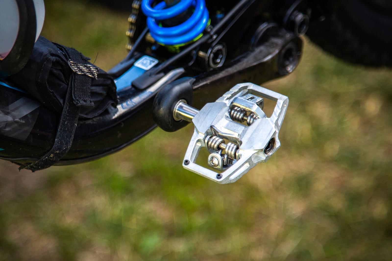 New HT Pedals? - PIT BITS - Enduro World Series, La Thuile - Mountain Biking Pictures - Vital MTB