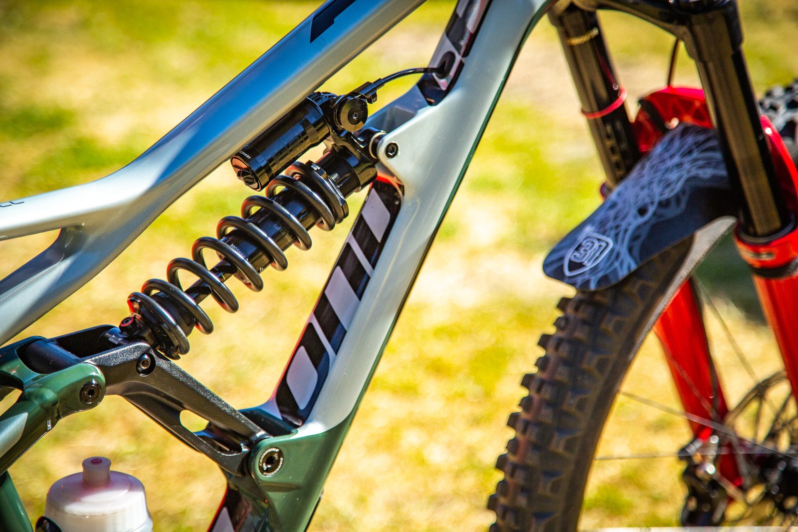 Rockshox SuperDeluxe coil with remote lockout - PIT BITS - Enduro World Series, La Thuile - Mountain Biking Pictures - Vital MTB