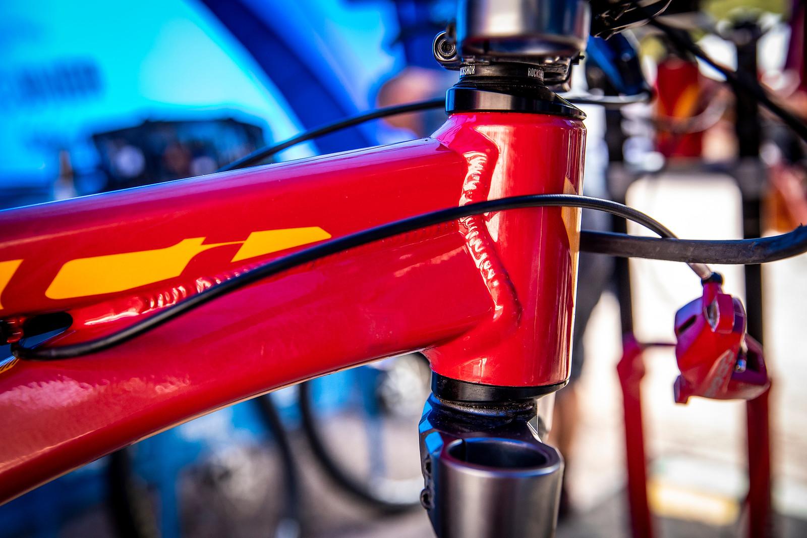 Dakota Norton's Devinci Wilson - PIT BITS - La Bresse World Cup Downhill - Mountain Biking Pictures - Vital MTB
