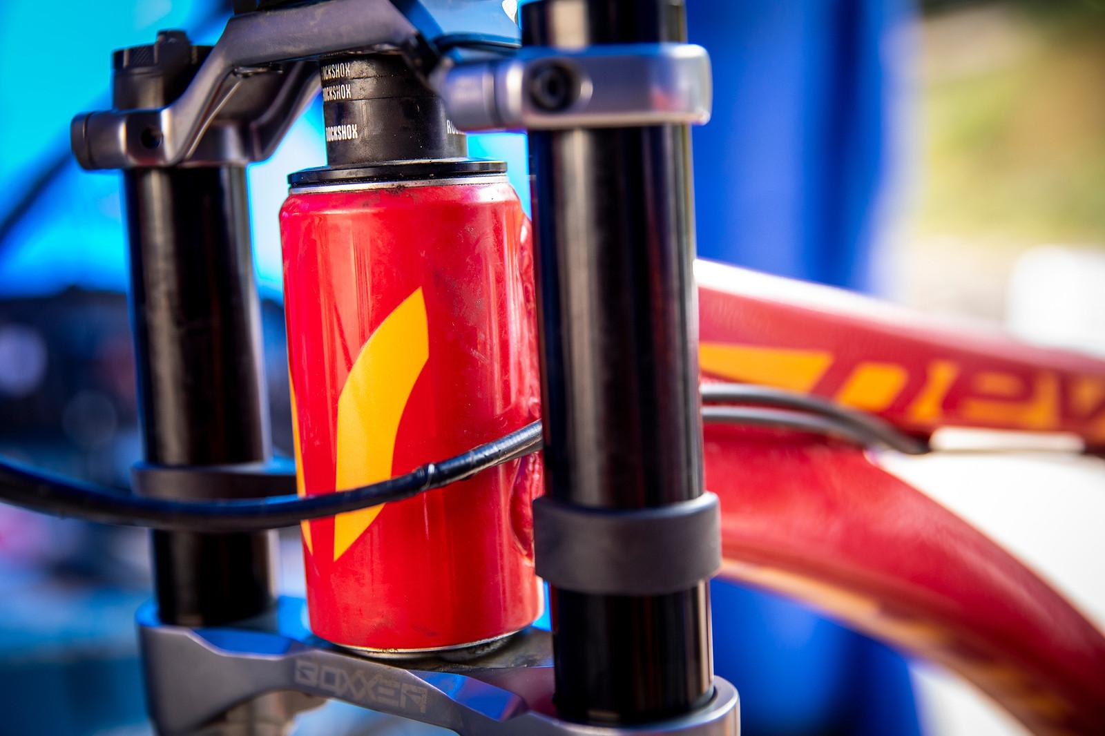Rudy Cabirou's Devinci Wilcon - PIT BITS - La Bresse World Cup Downhill - Mountain Biking Pictures - Vital MTB